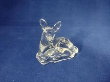 Biedermann Doe Deer Glass Figurine Mini Taper Candle Holder
