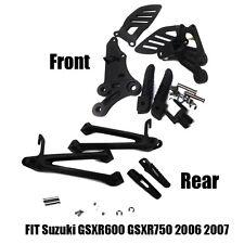 SuzukiGSXR60075020062007BlackRear&FrontPassengerFootPegsBracket