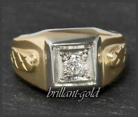 Diamant 585 Gold Ring mit 0,30ct; Top Wesselton, VS; Vintage Solitärring um 1950