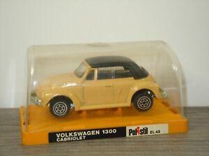 VW Volkswagen 1300 Beetle Cabriolet - Polistil EL43 Italy 1:43 in Box *53527