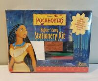 Disney's Pocahontas Rubber Stamp Stationery Kit 14 Stamps & Stickers - NEW RARE