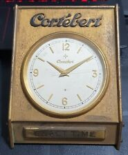 Vintage Cortebert Desk Clock 8 Day Exact TIme