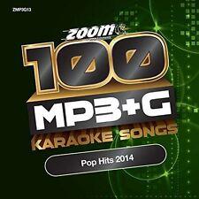 Zoom Karaoke MP3 + G 100 Songs Pop Hits 2014 New Sealed