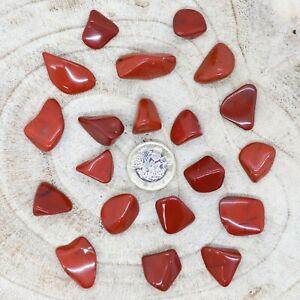 20 x 15-25mm Red Jasper Tumblestones 65g+ Crystals Grounding Base Chakra seconds