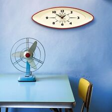 RETRO VINTAGE 1950s Newgate Black Funky Colour Modern Chic Kitchen 3D Wall Clock