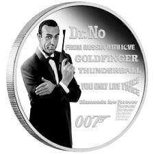 Tuvalu 1 Dollar 2021 James Bond™ Legacy Serie (1.) Sean Connery - 1 Oz Silber PP