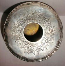 Antique Edwardian Tiffany co sterling silver decorated hair reciver box vanity
