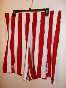 NWT Mens Size XXL Adidas Indiana Hoosiers Candy Stripe Red/White Shorts New $70