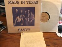 SAVVY LP MADE IN TEXAS 1982 PRIVATE PRESS HARD ROCK AOR NM/EX