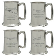 More details for personalised commercial aircraft pewter tankard aviation pilot engineer gift
