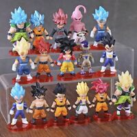 16pcs/lot Dragon Ball Z DBZ Super Saiyan, Frieza, Vegeta, Goku, Gohan, Buu +++