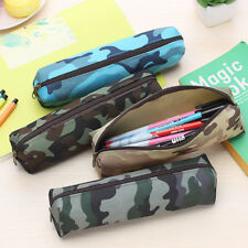 Large Case Pencil Capacity School Student Pen Bag Cosmetic Camouflage Pouch US