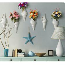 Set 3 Porcelain Spiral Shell Wall Flower Vase Hydroponics Holder Wall Mount