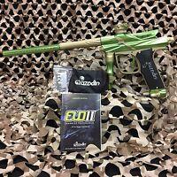 NEW Azodin Blitz Evo 2 Electronic Paintball Gun Marker - Lime/Gold