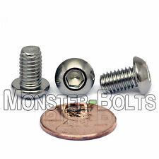 M6-1.0 x 10mm - Qty 10 - Stainless Steel BUTTON HEAD Socket Cap Screws ISO 7380