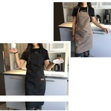Black Canvas Apron Catering Pinafore Waterproof New Adjustable Work Clothes LT