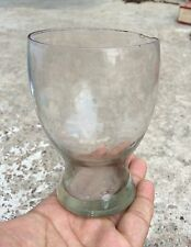 1940's VINTAGE BEAUTIFUL BLUE GLASS CARNIVAL WINE TUMBLER, JAPAN