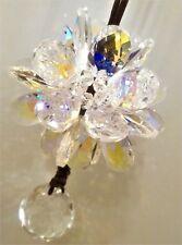 Crystal Flower Posy Suncatcher Multi Large Iridescent Clear Petals of Fire & Ice