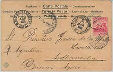 52293   -  BARBADOS -  POSTAL HISTORY:  POSTCARD to BUENOS AIRES Argentina 1905