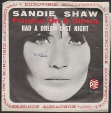 EUROVISION / VINYL SINGLE / SANDIE  SHAW  --  PUPPET  ON  A  STRING