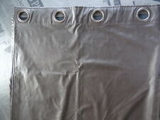 Rideau à œillets simili cuir marron chocolat taille H236 x L134 cm parfait état