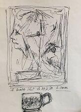 Antoine Serra 1908-1995 dessin le diable vert 1980 école provençale Marseille