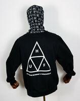 Huf Worldwide Sweatshirt Sweat Crewneck Hoodie Crew Essentials TT Black in S