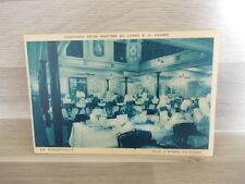 Old postcard Comp. Belge Marit. du Congo S.S. Elisabethville - Salle à manger 1r