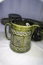 Green Sylvac Water or Mik Jug Pattern Number 4179
