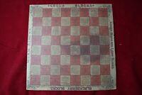 1890s Paper SIGN Antique Syntiva Wood Blocks Worm Blocks Checker Board 12x12