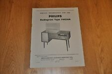 Philips Model F4G26A Radiogram Workshop Service Manual. AES298