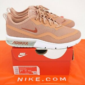 NIKE Air Max Sequent 4.5 Rose Gold Dusty Peach BQ8824 600 - US 7.5 BARELY WORN