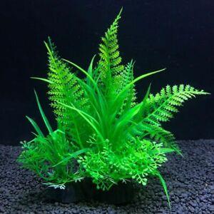 Plastic Aquarium Plants Fish Tank Decorations Artificial Grass Realistic Aquatic
