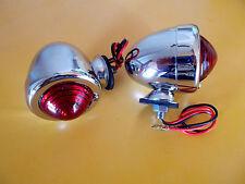 Stop / Tail Lights BULLET Style Dual Filament   HOT ROD RAT ROD