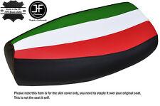 ITALIAN STRIPE ORANGE STITCH CUSTOM FITS PIAGGIO VESPA PX 125 LEATHER SEAT COVER