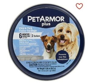 Brand New Sealed Pet Armour Plus for Dogs Flea & Tick 2 Pack Collars