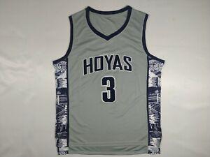 Allen Iverson #3 Georgetown Hoyas College Basketball Jersey Sewn Blue Grey S-3XL