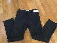 NEW MEN'S WESC EDDY CHINO FLAT FRONT PANTS BLACK SZ 30 X 32