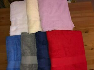 100% cotton bathroom hand and bath towels, different sizes and colour available!