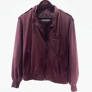 MEMBERS ONLY XL Red Burgundy Lightweight Vintage Jacket