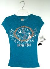 Baby Phat...SUPER SEXY...EMBELLISHED GRAPHIC tee...TURQUOISE LRG...NWT..C2A00026