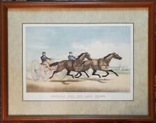 """Currier & Ives """"American Girl And Lady Thorn"""", Framed, PA5495"""