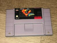 The Death and Return of Superman Super Nintendo Snes Cleaned & Tested Authentic