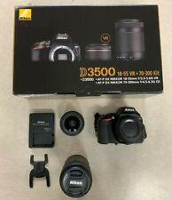 Nikon D3500 24.2MP with 18-55mm & 70-300mm Lens Kit DSLR Camera - Black