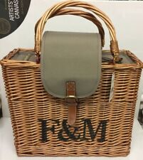 FORTNUM AND MASON WICKER BASKET WITH INSULATED INNER