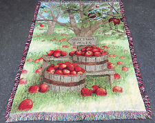 Apple Stand Tapestry Afghan Throw