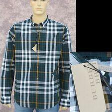BURBERRY BRIT New sz L  Authentic 100% Cotton Plaid Check Mens Designer Shirt