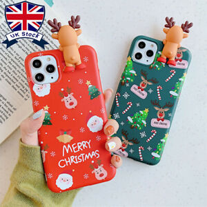 Soft Silicone Christmas Phone Case Cover For Apple iPhone Max XR X Plus 11 8 7 6