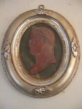 Napoleon Bust Profile Silver Gilt Frame French Victorian Grand Tour Style