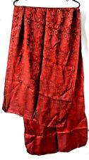 ZAZOU Large 100% Rayon Scarf, Coppery Reddish-Brown Color 21x74 beautiful sheen